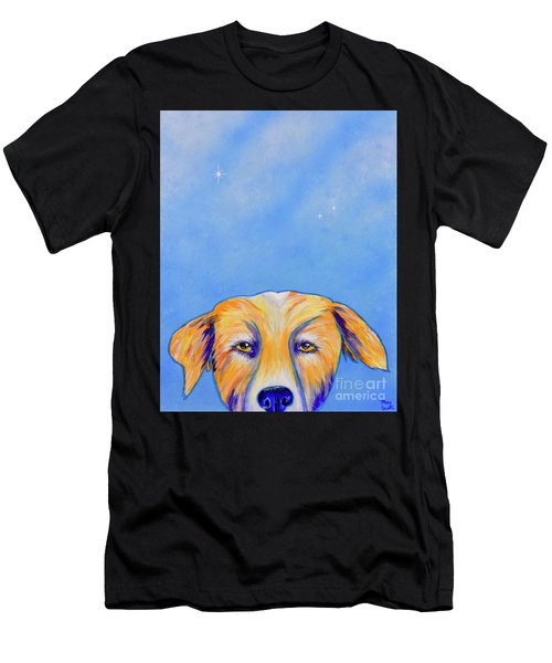 Men's T-Shirt (Athletic Fit) featuring the painting Where's The Food? by Mary Scott