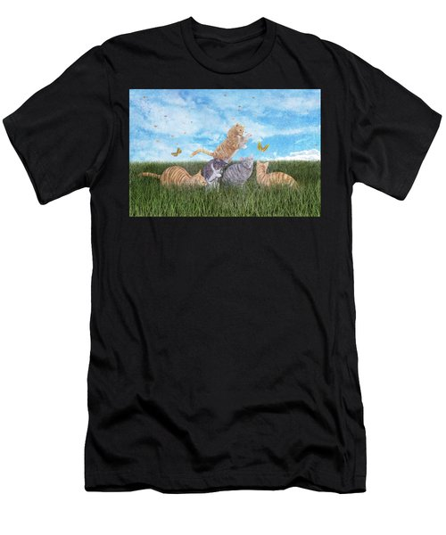 Whimsical Cats Men's T-Shirt (Athletic Fit)
