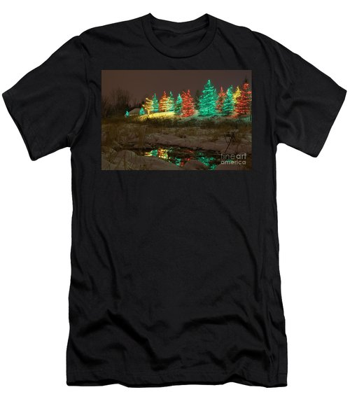 Whimsical Christmas Lights Men's T-Shirt (Athletic Fit)