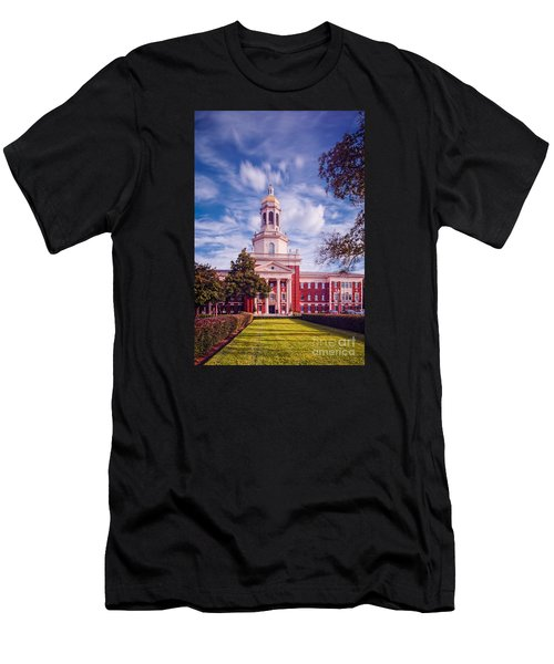 Whimsical Clouds Behind Pat Neff Hall - Baylor University - Waco Texas Men's T-Shirt (Athletic Fit)