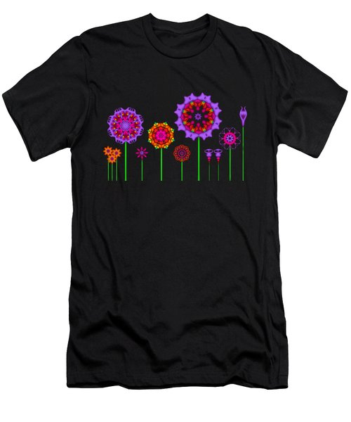 Whimsical Fractal Flower Garden Men's T-Shirt (Athletic Fit)