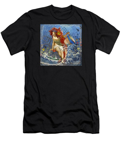 Mermaid Aquarius Vintage Whimsical Gothic Funny Men's T-Shirt (Athletic Fit)