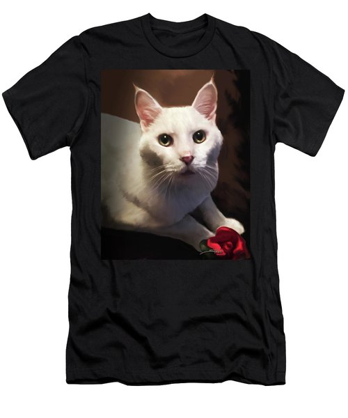 Whiskers And Rose Men's T-Shirt (Athletic Fit)