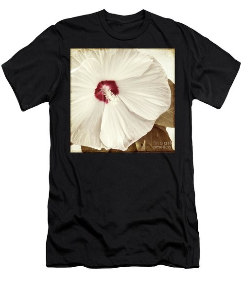 Whispering Hibiscus Men's T-Shirt (Athletic Fit)