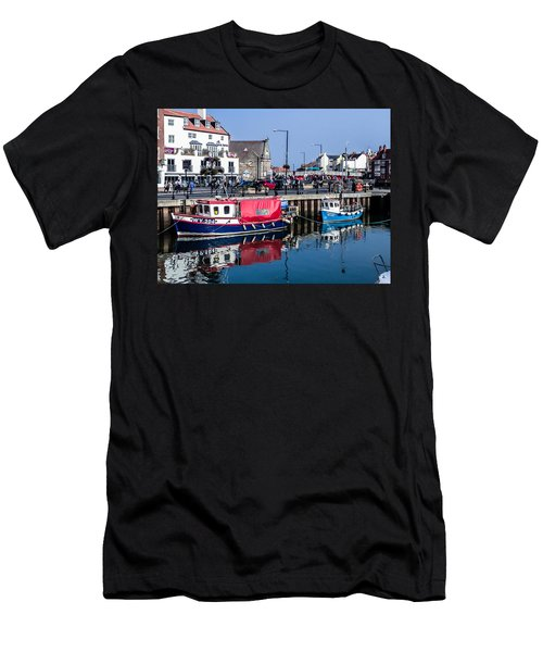 Whitby Harbor, United Kingdom Men's T-Shirt (Athletic Fit)