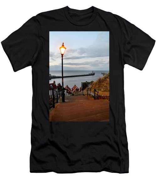 Whitby Steps Blue Hour Men's T-Shirt (Athletic Fit)