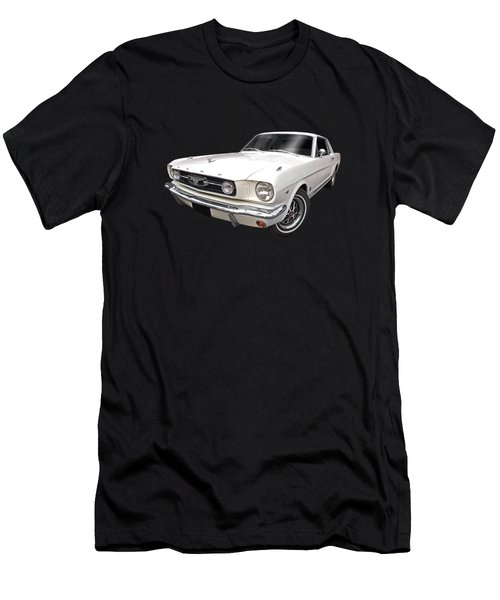 White 1966 Mustang Men's T-Shirt (Athletic Fit)