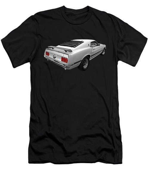 White '69 Mach 1 Men's T-Shirt (Athletic Fit)