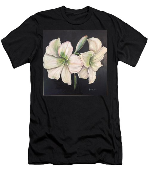 White Amaryllis  Men's T-Shirt (Athletic Fit)