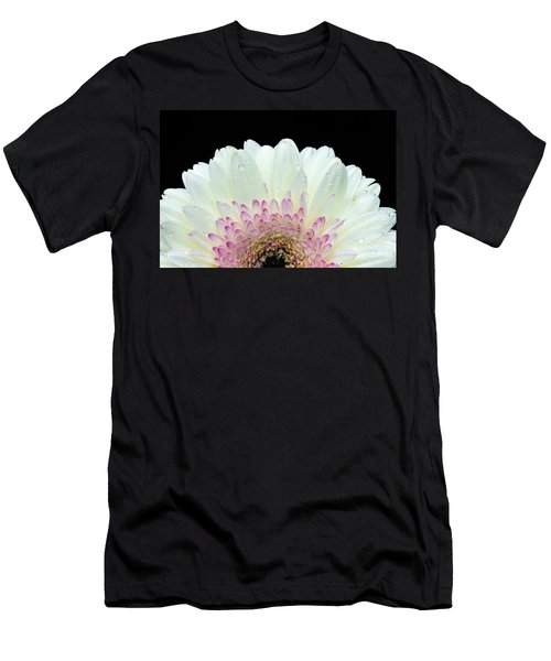 White And Pink Daisy Men's T-Shirt (Athletic Fit)
