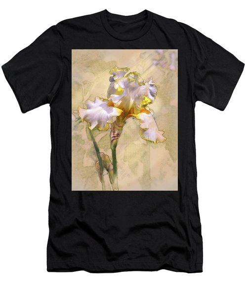 White And Yellow Iris Men's T-Shirt (Athletic Fit)