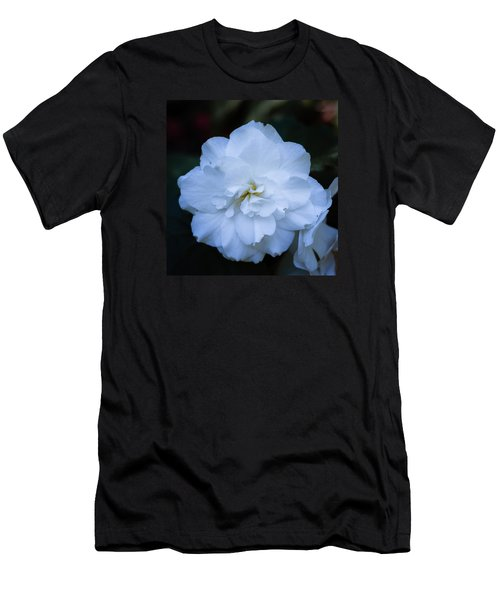 White As Snow Begonia Men's T-Shirt (Athletic Fit)