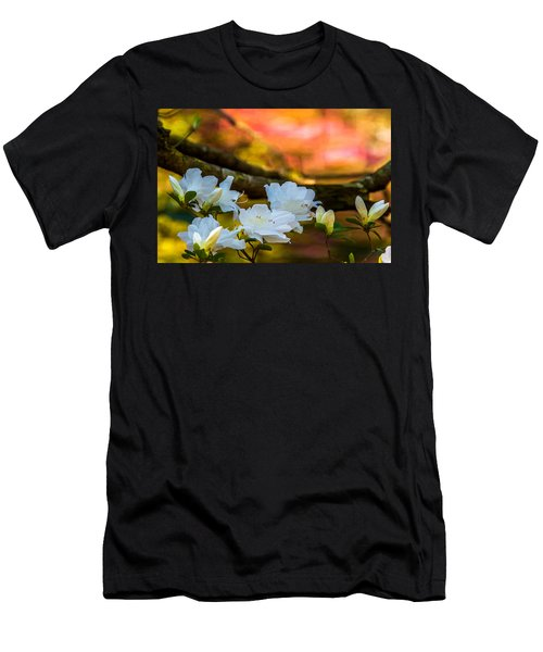 White Azaleas In The Garden Men's T-Shirt (Athletic Fit)