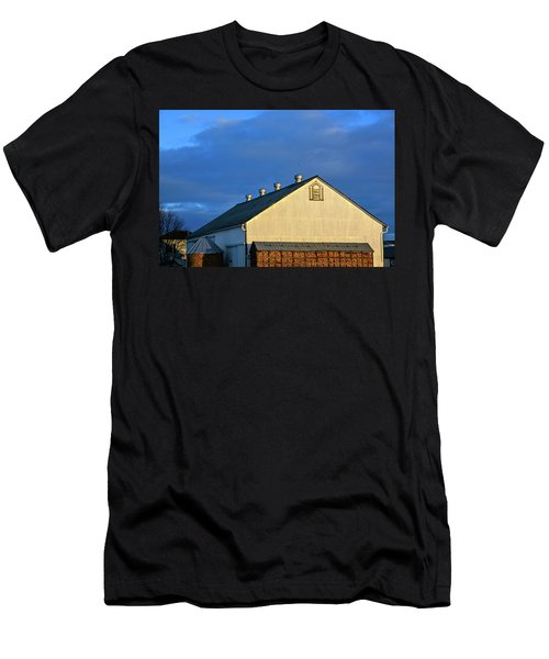 White Barn At Golden Hour Men's T-Shirt (Athletic Fit)