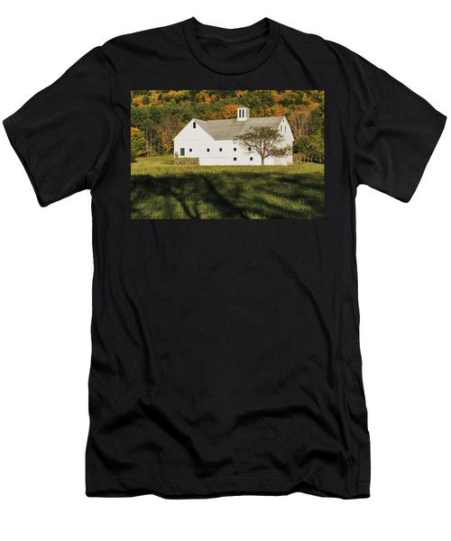 White Barn In Color Men's T-Shirt (Athletic Fit)