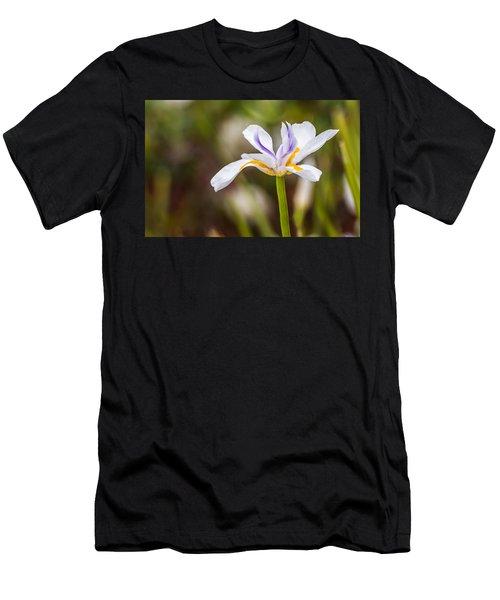 White Beardless Iris Men's T-Shirt (Athletic Fit)