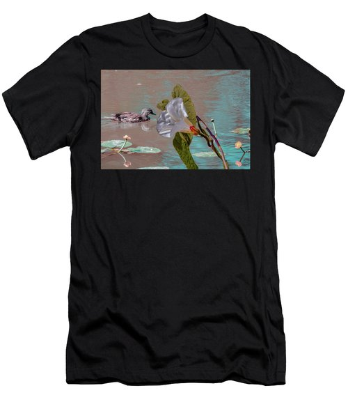 White Bindweed And Mandarin Duck Mix #g5 Men's T-Shirt (Athletic Fit)