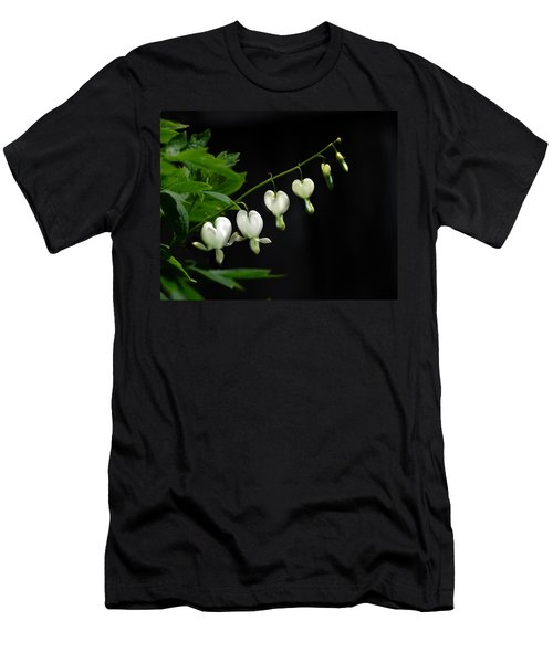 Men's T-Shirt (Slim Fit) featuring the photograph White Bleeding Hearts by Susan Capuano