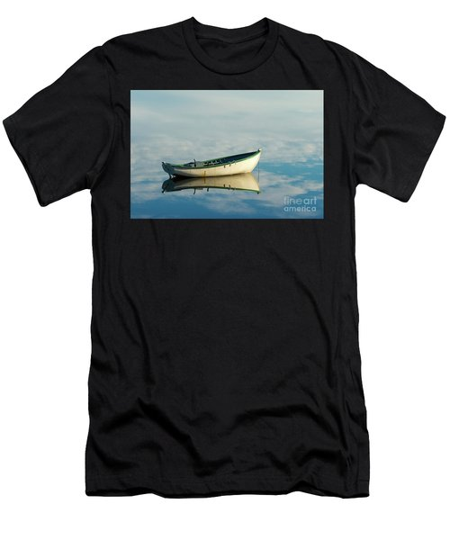White Boat Reflected Men's T-Shirt (Athletic Fit)