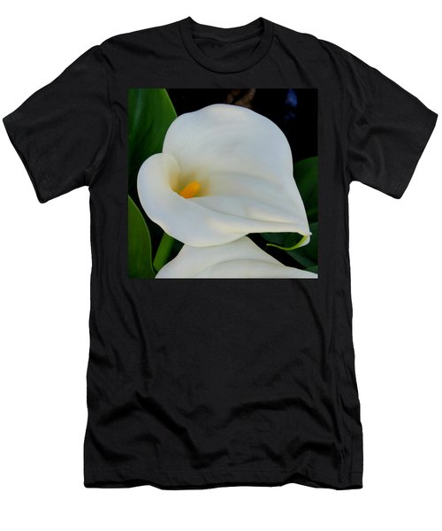 White Cala Lily Men's T-Shirt (Athletic Fit)
