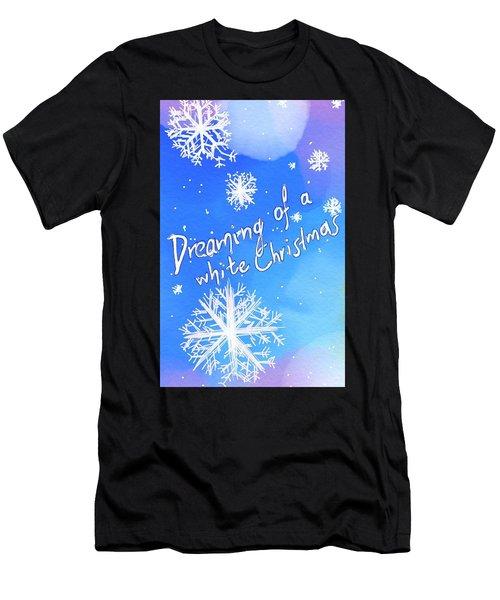 White Christmas  Men's T-Shirt (Athletic Fit)