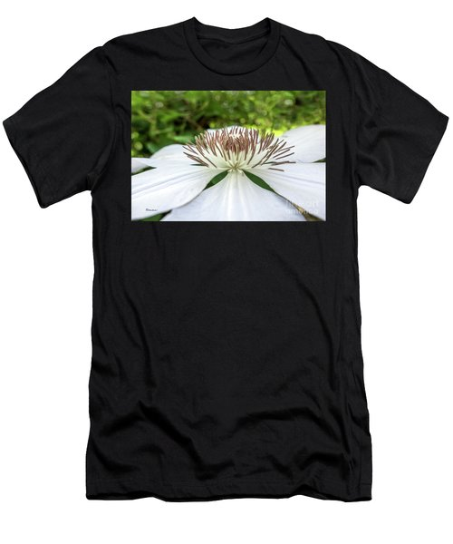 White Clematis Flower Garden 50146 Men's T-Shirt (Athletic Fit)