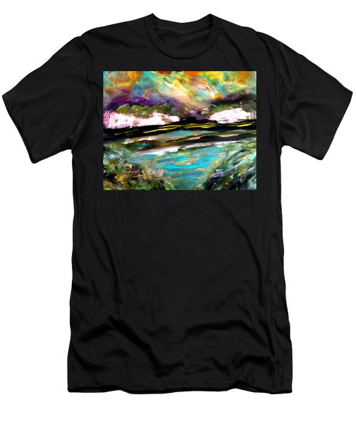 White Cliffs At Sunset Men's T-Shirt (Athletic Fit)