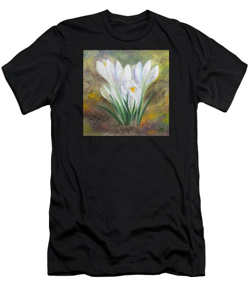 White Crocus Men's T-Shirt (Athletic Fit)
