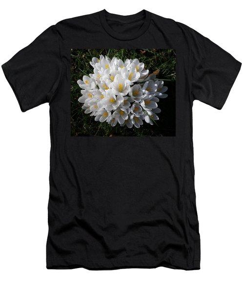 White Crocuses Men's T-Shirt (Athletic Fit)