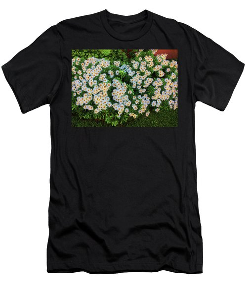 Men's T-Shirt (Athletic Fit) featuring the photograph White Daisy Bush by Roger Bester