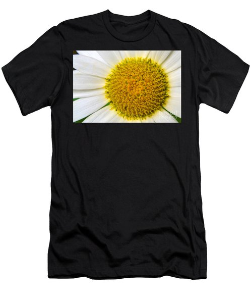 White Daisy Close Up Men's T-Shirt (Athletic Fit)