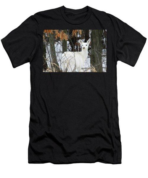 White Deer Vistor Men's T-Shirt (Athletic Fit)