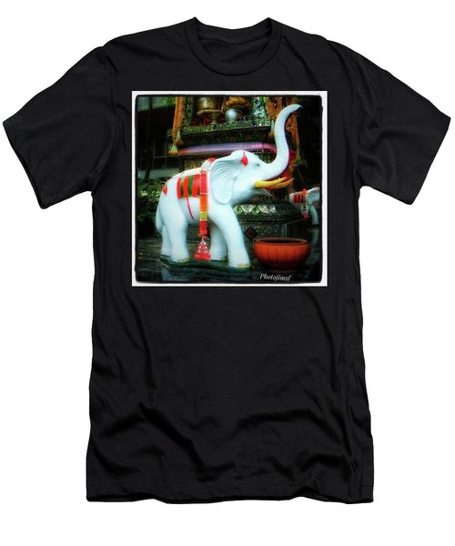 Men's T-Shirt (Athletic Fit) featuring the photograph White Elephant. Meaning A Big Expensive by Mr Photojimsf