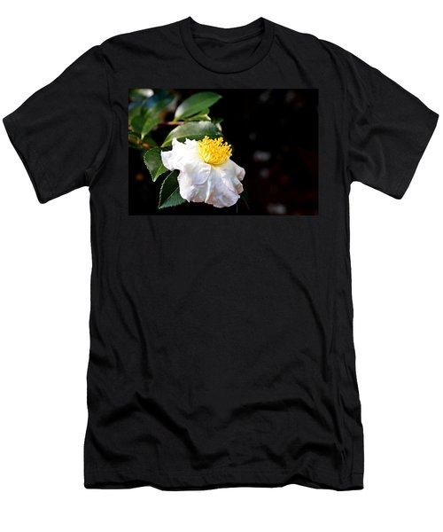 White Flower-so Silky And White Men's T-Shirt (Athletic Fit)