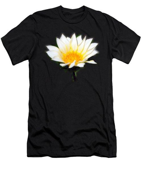 White Flower T-shirt Men's T-Shirt (Athletic Fit)