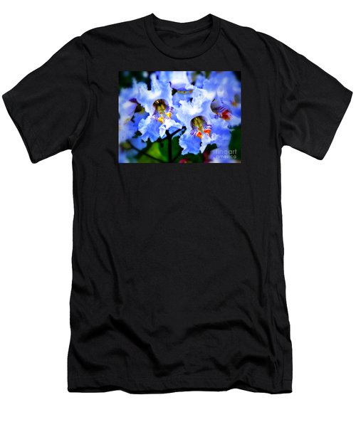 White Flowers Men's T-Shirt (Slim Fit) by Craig Walters
