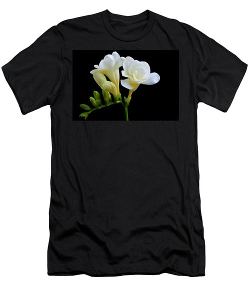 White Freesia Men's T-Shirt (Slim Fit) by Terence Davis