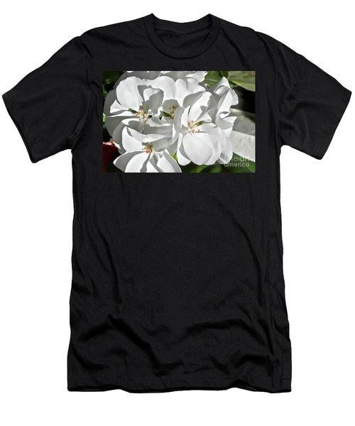 White Geraniums Men's T-Shirt (Athletic Fit)