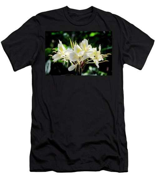 White Hawaiian Flowers Men's T-Shirt (Athletic Fit)