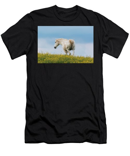 White Horse Of Cataloochee Ranch - May 30 2017 Men's T-Shirt (Athletic Fit)