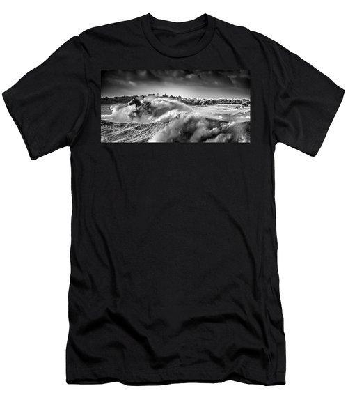 White Horses Men's T-Shirt (Athletic Fit)