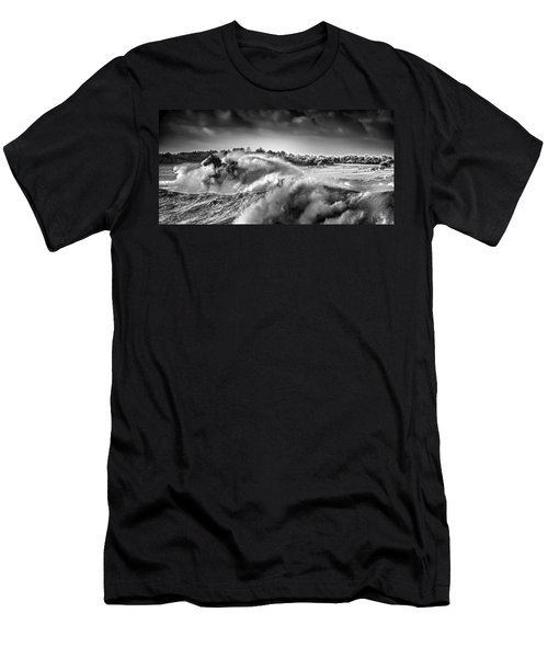 Men's T-Shirt (Athletic Fit) featuring the photograph White Horses by Chris Cousins