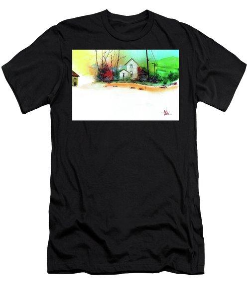 White Houses Men's T-Shirt (Athletic Fit)