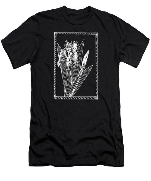 White Iris On Transparent Background Men's T-Shirt (Athletic Fit)