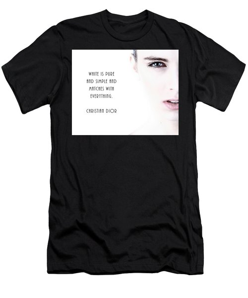 Men's T-Shirt (Athletic Fit) featuring the digital art White Is Pure And Simple by Anthony Murphy