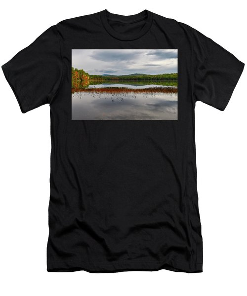 Men's T-Shirt (Athletic Fit) featuring the photograph White Lake Fall Chocorua Nh by Michael Hubley