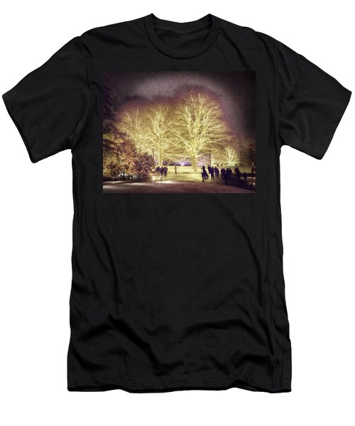 Men's T-Shirt (Slim Fit) featuring the photograph White Light Christmas by Phil Abrams