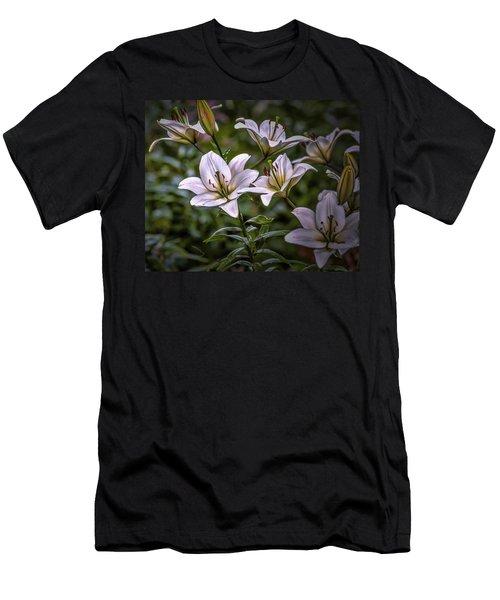 White Lilies #g5 Men's T-Shirt (Athletic Fit)