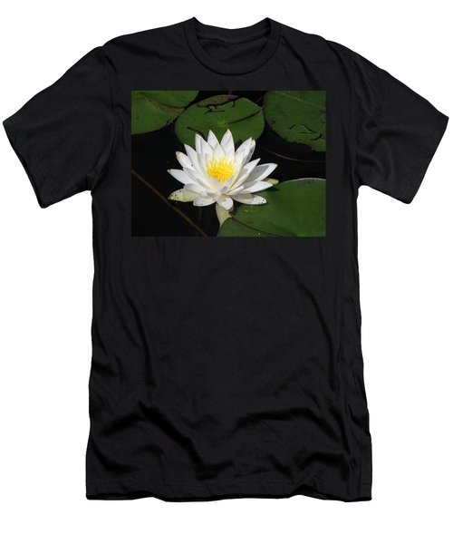 White Lily Pad Men's T-Shirt (Athletic Fit)