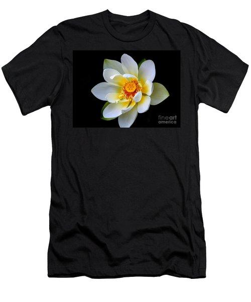 White Lotus Flower Men's T-Shirt (Athletic Fit)